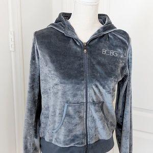 BCBG Velour Grey Track Suit Jacket.